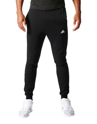 Adidas Essentials Slim French Terry Pants-BLACK-Medium