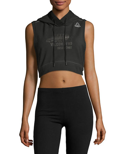 Reebok Combat Glory Cropped Hoody-BLACK-Small