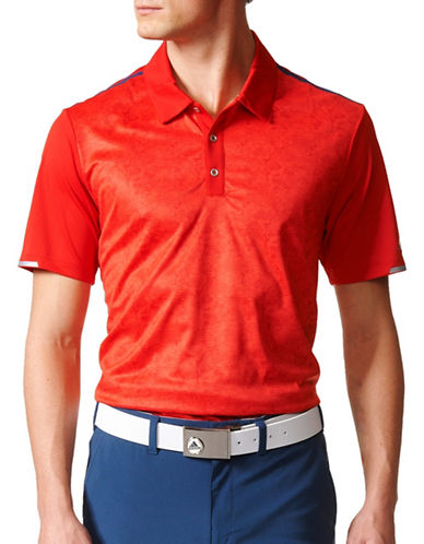 Adidas Golf Climachill 2D-Camo Printed Polo-RED-Medium