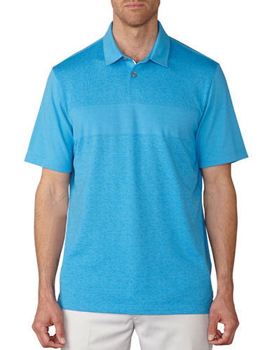 Ashworth Tonal Jacquard Polo-BLUE-Medium