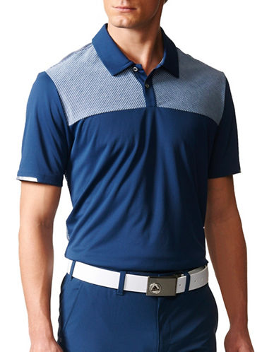 Adidas Golf Climachill Heather Block Competition Polo-DARK GREY-X-Large 89106939_DARK GREY_X-Large