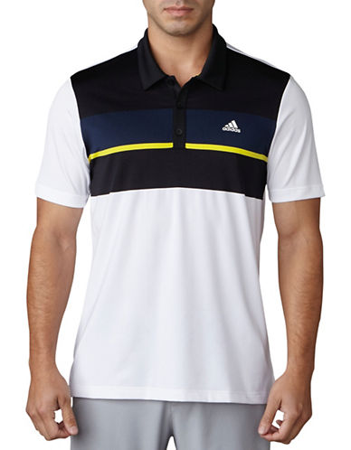Adidas Golf Climacool Colorblock Polo-WHITE/BLACK-Small 89106810_WHITE/BLACK_Small