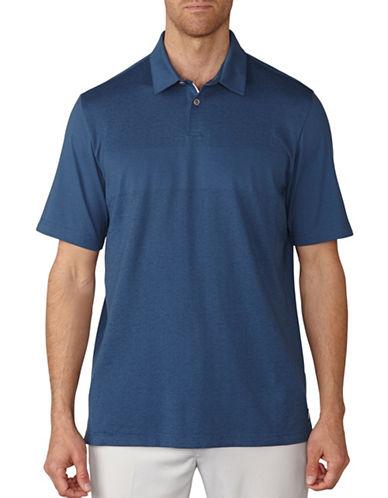 Ashworth Tonal Jacquard Polo-BLUE-Medium