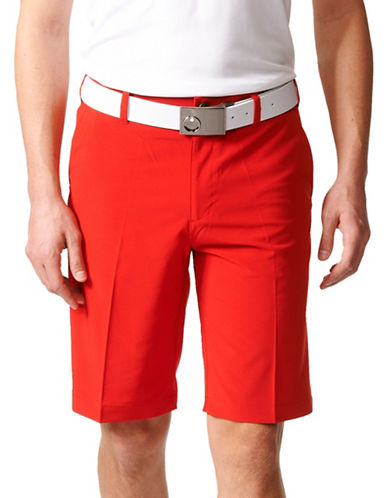 Adidas Golf Ultimate Plain Woven Golf Shorts-RED-42