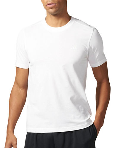 Adidas Essentials Droptail 3-Stripes T-Shirt-WHITE-Large 89036308_WHITE_Large
