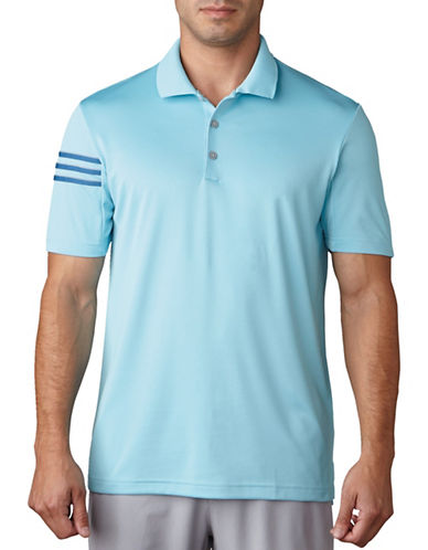 Adidas Golf Climacool 3-Stripe Club Crestable Polo-BLUE-Small