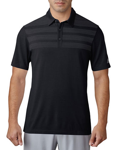Adidas Golf Climacool Stratus Three-Striped Mapped Polo-BLACK-Small