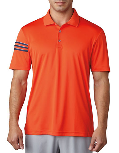 Adidas Golf Climacool Three-Striped Club Crestable Polo-ORANGE-Large 89106879_ORANGE_Large