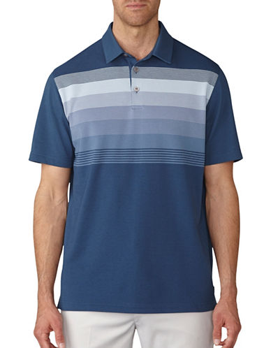 Ashworth Gradation Stripe Pique Polo-GREY-Medium