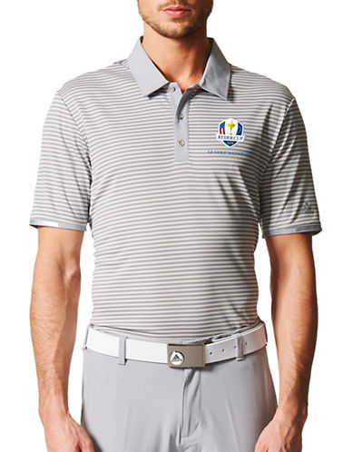Adidas Golf Climachill Tonal Stripe Polo-GREY-Small