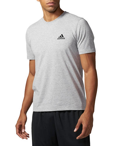 Adidas Essentials 3-Stripes Logo T-Shirt-GREY-Large 89668636_GREY_Large