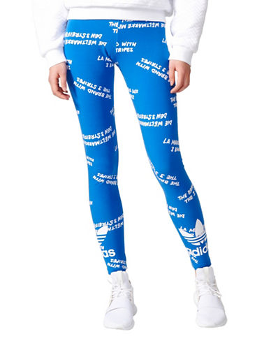Adidas Trefoil Leggings-BLUE-Large 89080350_BLUE_Large