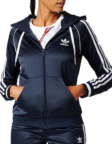 Adidas Slim Front Zip Hoodie-BLACK-X-Large 89178159_BLACK_X-Large