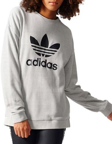 Adidas Trefoil Sweatshirt-GREY-Large 89080330_GREY_Large
