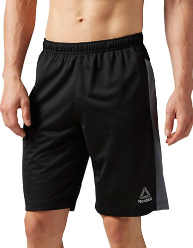 Reebok Workout Ready Mesh Shorts-BLACK-Small