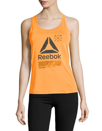 Reebok Active Chill Tank-CAROTENE-Small