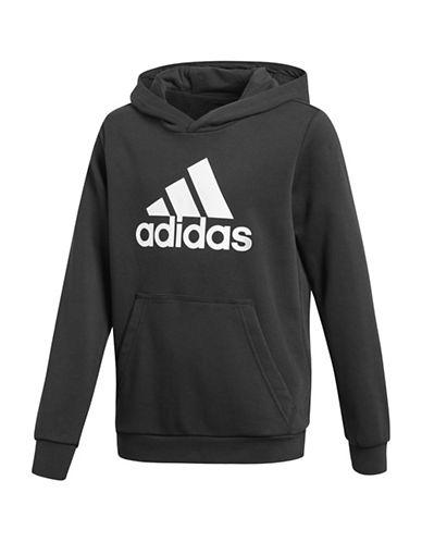 Adidas Long Sleeve Logo Hoodie-BLACK-11-12