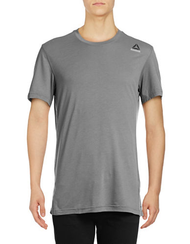Reebok Workout Ready Supremium 2.0 Tee-GREY-Medium