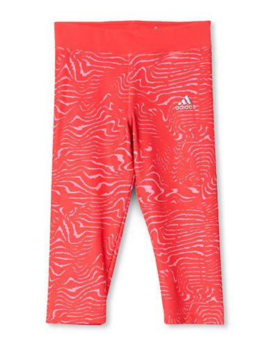 Adidas Training Three-Quarter Tights-PINK-X-Small
