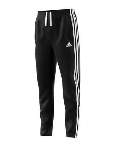 Adidas Essentials 3 Stripes Fleece Pants-BLACK-Large 88916093_BLACK_Large