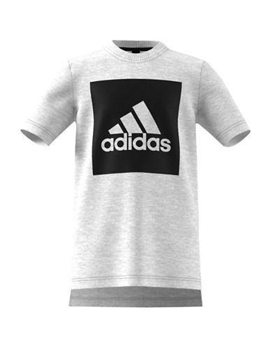 Adidas Essentials Logo Front To Back T-Shirt-GREY-Large 88916077_GREY_Large