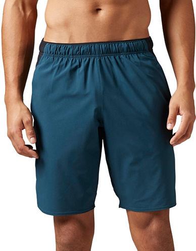 Reebok Workout Ready Woven Shorts-BLUE-Large 88912683_BLUE_Large