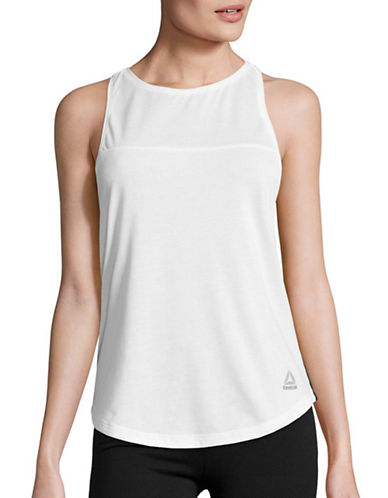 Reebok Mesh Panel Racerback Tank Top-GREY-Large 88877661_GREY_Large
