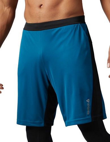 Reebok Speedwick Knit Force Shorts-BLUE-X-Large 88912674_BLUE_X-Large