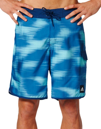 Adidas Motion Print Boardshorts-BLUE-Small 89034419_BLUE_Small