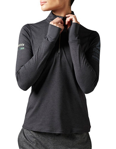 Reebok Running Slim-Fit Performance Pullover-BLACK-Large 88877704_BLACK_Large