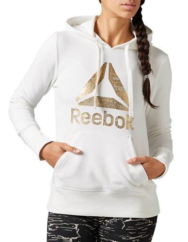 Reebok Foil Logo Hoody-WHITE-Large