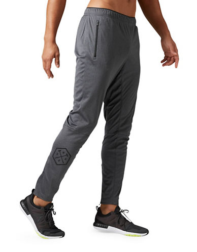 Reebok Knit Trackster Pants-GREY-XX-Large