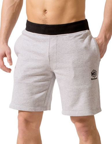 Reebok Two-Tone French Terry Shorts-GREY-Medium
