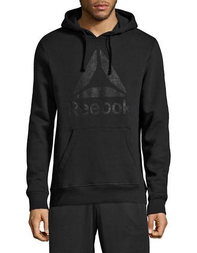 Reebok Rock Logo Hoodie-BLACK-Medium
