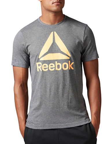 Reebok Stacked Logo Tee-GREY-Small 88988335_GREY_Small
