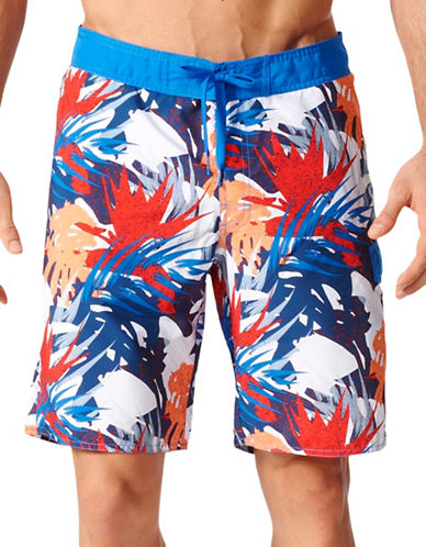 Adidas Palm Print Boardshorts-BLUE-Medium 89034425_BLUE_Medium