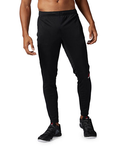 Reebok Knit Trackster Pants-BLACK-Large