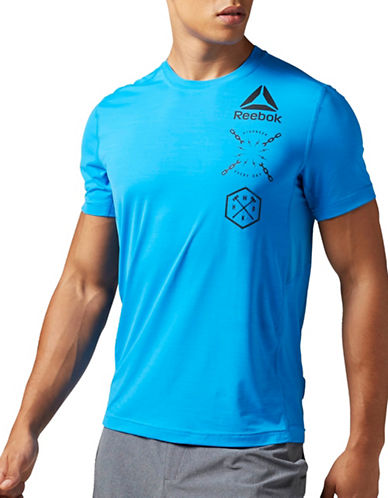 Reebok Activchill Graphic Tee-BLUE-X-Large 89027160_BLUE_X-Large