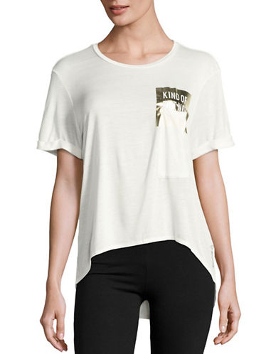 Reebok Box Graphic Pocket T-Shirt-NATURAL-Small