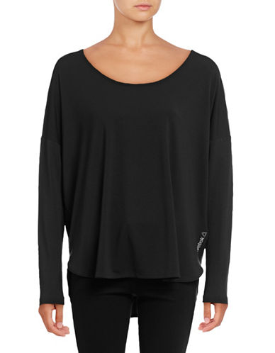 Reebok Studio Luxe Scoop Neck Top-BLACK-Small 88877737_BLACK_Small