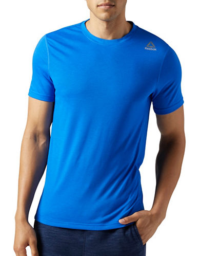 Reebok Workout Ready Supremium 2.0 Tee-BLUE-Large