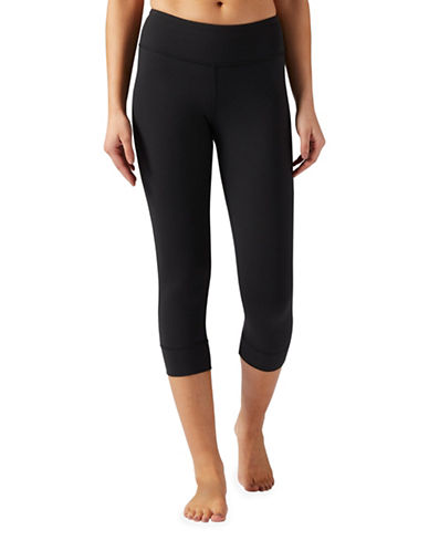 Reebok Lux Crop Three-Quarter Tights-BLACK-X-Small