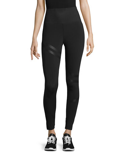 Reebok Linear High Rise Tights-BLACK-Small