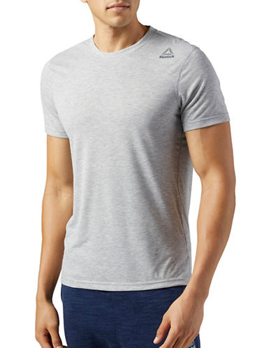 Reebok Workout Ready Supremium 2.0 Cotton Tee-GREY-XX-Large