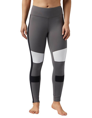 Reebok Luxe Colourblock Leggings-GREY-X-Small