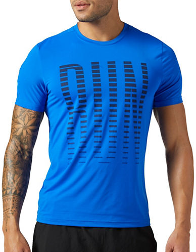 Reebok Running Activchill Graphic Tee-BLUE-Small
