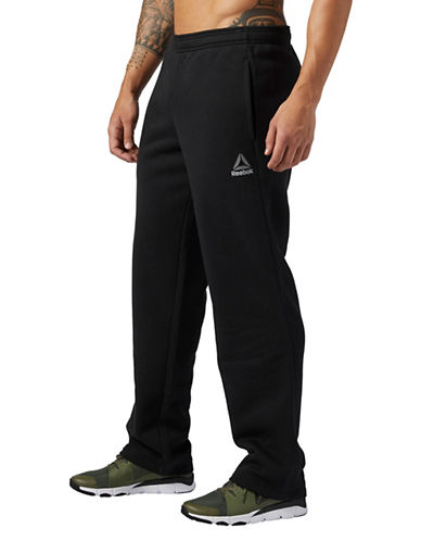 Reebok Elements Fleece Stacked Pants-BLACK-Large 89681756_BLACK_Large