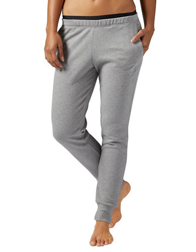 Reebok Heathered Knit Pants-GREY-Large 89654532_GREY_Large