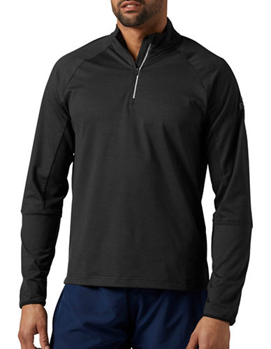 Reebok Running Quarter-Zip Sweater-BLACK-Small