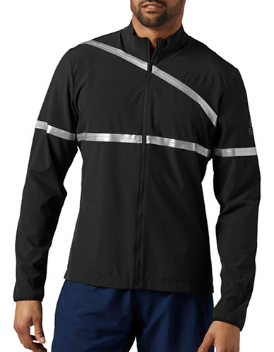 Reebok Running Full Zip Jacket-BLACK-Large